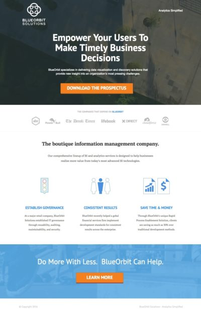 Sample Landing Page - Custom Design