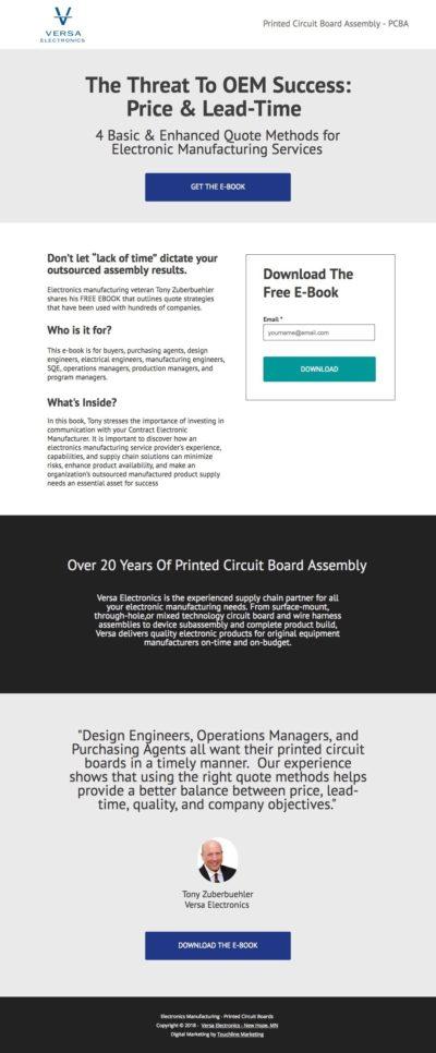 Sample Landing Page - Basic Template